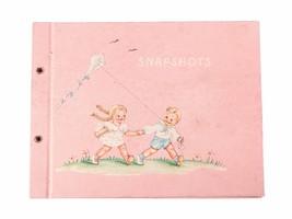 FREE SHIP:Vintage Nursery Photo Album-Pink Snapshots Baby Photography Bl... - $21.04