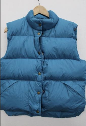 NWT NEW Vintage Women Blue Goose Down L.L. Bean Vest Sz M Medium