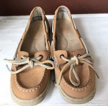 Bass Jetty Men's Tan Leather Lace Up Loafer Boat Shoes Size 10 M - $20.56