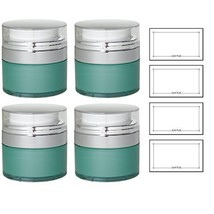 Teal Blue Airless Refillable Jar 1 oz / 30 ml (4 pack) + Labels - keeps ... - $35.40