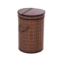 Bamboo Laundry Hamper Basket Wicker Lid Clothes... - $33.15 - $35.02