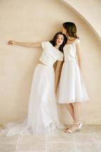 Rose Pink Wedding Tulle Skirt with Train Wedding Tulle Skirt Tulle Bridal Tutu image 9