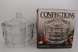 Confections Indiana Glass Concord Crystal Glass Candy Box with Lid New i... - $16.82