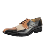 LibertyZeno Men's PU Synthetic Leather Manmade Lace up Dress Shoes L-Alpha - $54.99