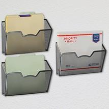 3 Pack - SimpleHouseware Wall Mount Single Pocket File Organizer Holder,... - $20.17