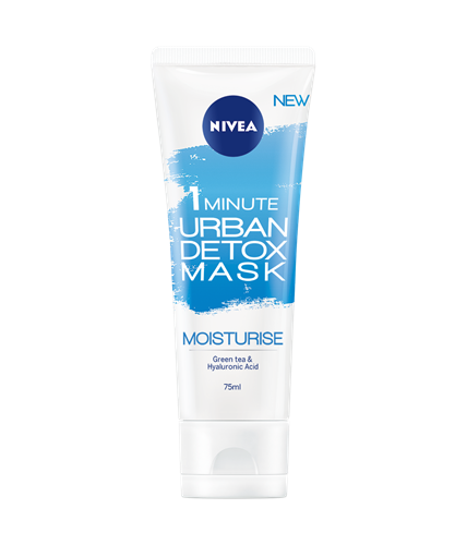 NIVEA ® 1MINUTE URBAN DETOX MASK MOISTURE WITH GREEN TEA AND HYALURONIC ACID