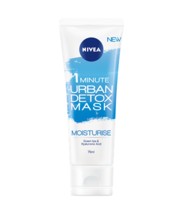 NIVEA ® 1MINUTE URBAN DETOX MASK MOISTURE WITH GREEN TEA AND HYALURONIC ... - $21.47