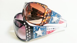 Womens Fashion Sunglasses Rhinestones Lone Star Western Style Bling - £7.88 GBP