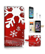 iPhone 7 (4.7') Flip Wallet Case Cover P3352 Christmas - $25.65