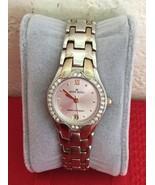 Anne Klein Women's Watch Silver Tone Case Crystal Bezel Date 10/6927 - $25.00