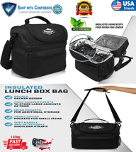 Men Women 11lt Insulated Lunch Box Tote Bag Large For Travel Work Picnic... - $10.98