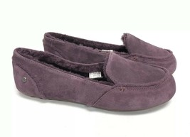 UGG Australia Hailey Port Sheepskin Suede Loafers 1020029 Shearling Shoes 11 - $79.99