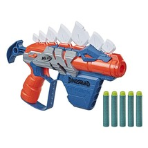 Nerf Dinosquad Stegosmash Blaster, 4- Storage, Pull-Back Priming Handl - $25.99