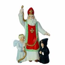 Lenox Old World Santa Claus figurine 1994 porcelain vtg holiday miniature angels - $23.17