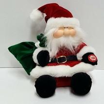 Dan Dee Animated Santa Claus Christmas Plush Plays Jingle Bell Rock Watc... - $29.99