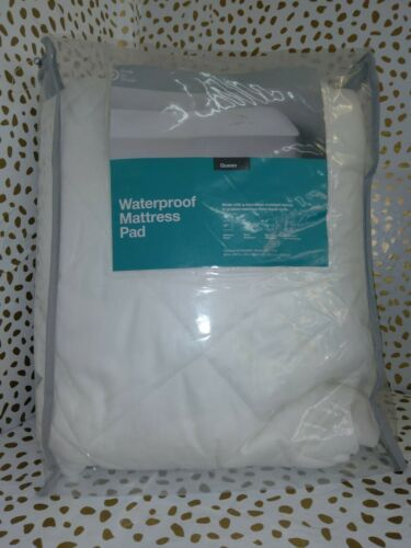 Waterproof Mattress Pad Queen White - Made By Design
