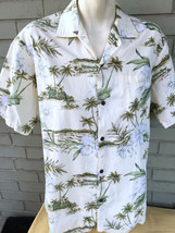 Winnie Fashion Made in Hawaii Hawaiian Tropical Large Floral Shirt Palm ... - $13.87