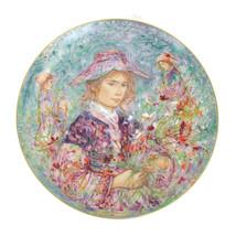 "Edna Hibel Flower Girl Of Provence Commemorative Hutschenreuther Plate 13"" - $51.43"