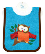 Baby's Owl Pullover Bib With Washcloth - $12.00