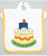 Baby's My First Birthday Pullover Bib With Washcloth - $12.00