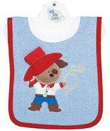 Baby's Cowboy Puppy Pullover Bib With Washcloth - $12.00