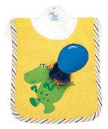 Baby's Dinosaur Pullover Bib With Washcloth - $12.00