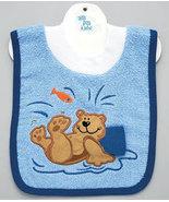Baby's Bear Pullover Bib With Washcloth - $12.00