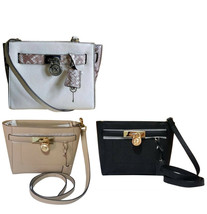 Michael Kors Hamilton Traveler Top Zip Messenger Bag Black 38H8CHXM2L - $113.85+