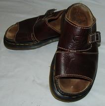 Dr Martens Brown Leather Slip On Sandals 6 England Shoes - $36.68