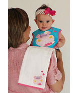 Baby's Juice Bib & Burp Pad Set: Hippo - $22.00
