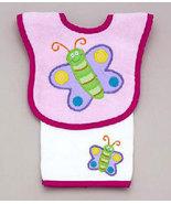 Baby's Juice Bib & Burp Pad Set: Butterfly - $22.00