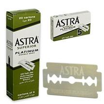 Astra Safety Double Edge Razor Blades - Superior Platinum - 100 Blades - $23.37