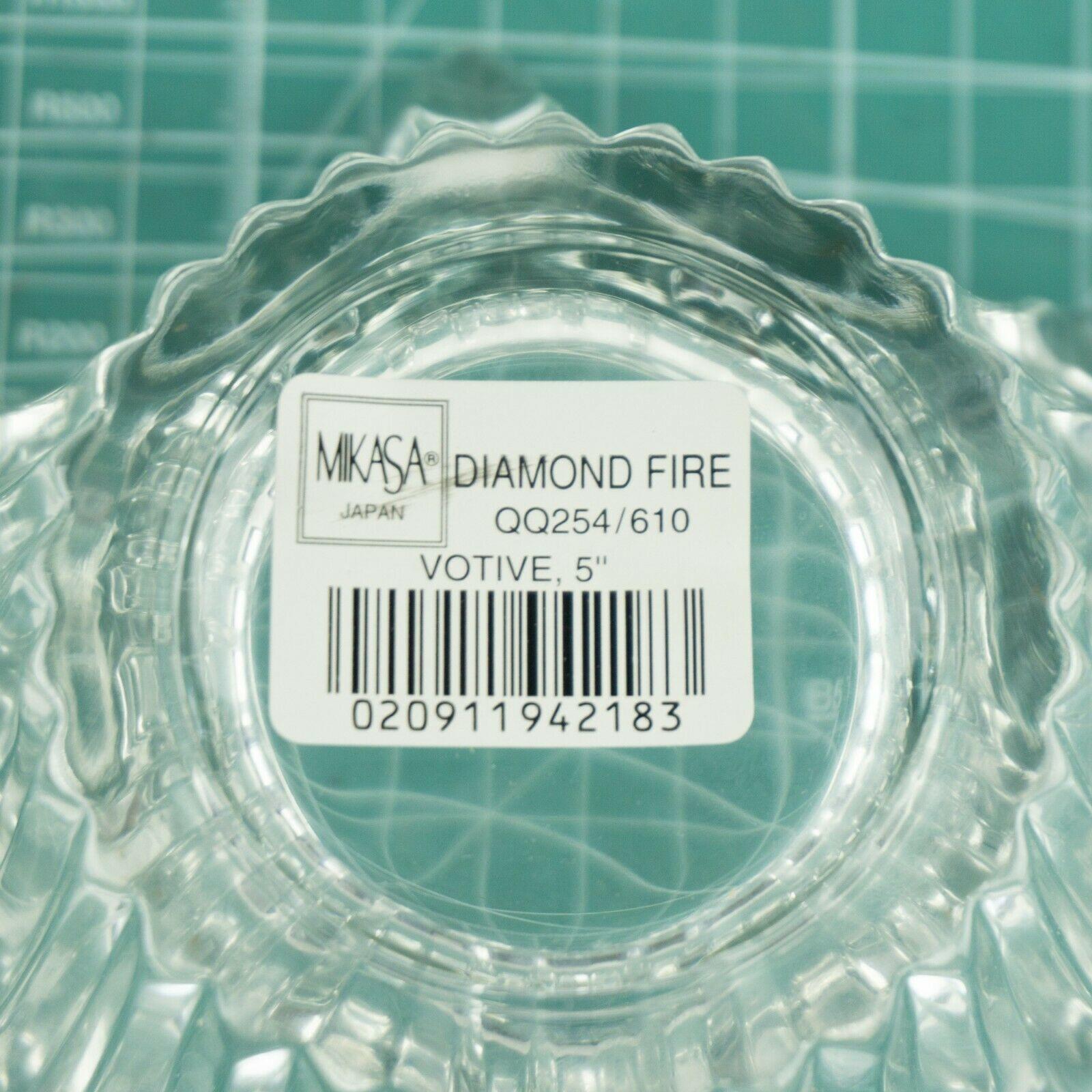 "VTG Mikasa Japan Votive 5"" Six Sided Tealight Candle Holder Key Glass Decorative image 4"