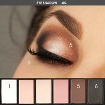 FOCALLURE 6 Colors Makeup Shimmer Eyeshadow Palette Cosmetic Neutral War... - $5.99