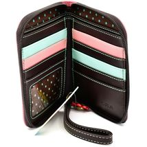 Chala Handbags Faux Leather Whimsical Butterfly Zip Around Wristlet Wallet image 3
