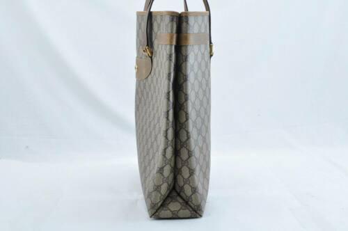 GUCCI GG Canvas Shoulder Bag Beige Auth ar1116
