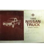 1985 NISSAN TRUCK OWNERS OPERATORS MANUAL - £17.96 GBP
