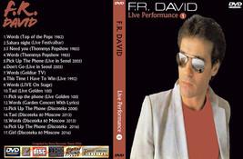 F.R.DAVID Live Performance Vol 1 Bootleg DVD Rare Hard To Find - $22.99