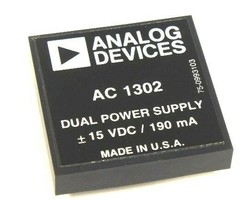 NEW ANALOG DEVICES AC-1302 DUAL POWER SUPPLY 15 VDC, 190 MA, AC1302