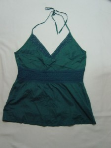 Primary image for WOMEN LADIES H & M TEAL HALTER SHIRT TOP SZE16 MED LARGE NWO