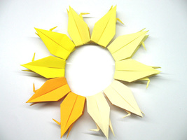 100 Large Yellow 5 Shades Color Origami Cranes - $25.00