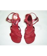 SHOES WOMEN LADIES UNLIMITED KENNETH COLE RED SHOES 7 1/2 M - $10.99