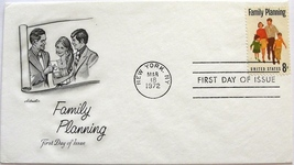 March 18, 1972 First Day of Issue, Artmaster Cover, Family Planning #21 - $2.49