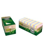 Post-it Greener Notes Recycled 24 Note Pad Cabinet Pack, 3 x 3, Assorte... - $25.55
