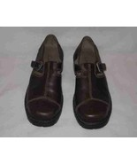 Women's Size 8 Brown Mary Janes Shoes CLARKS Leather - $63.67