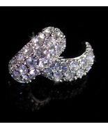 KJL Vintage  earrings - Pave brilliant rhinestones -Designer hoop pierce... - $55.00