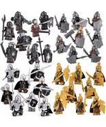 Lord Of The Rings 8 minifigures Orcs, Dwarfs, Elfs, blocks figures - $11.89
