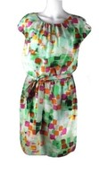Guess Los Angeles women's dress short sleeve green multicolor polyester ... - $15.83