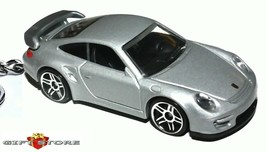 RARE KEY CHAIN 2007~2012 SILVER PORSCHE 911 997 GT2 GT 2 RS NEW LIMITED ... - $34.98