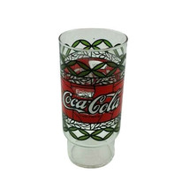 Enjoy Coca Cola Coke Stained Glass Design tall Drinking Glass Bar Barware  - $14.99